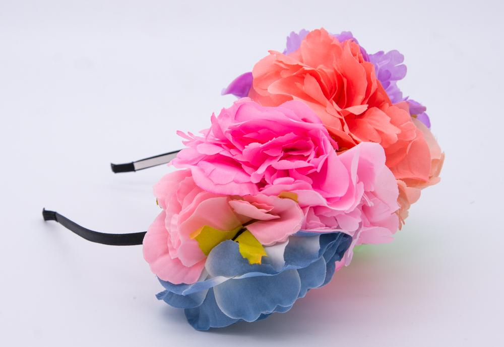 diadem med blommor