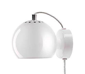 Lampa Ball Vägg Vit