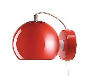 Lampa Ball Vägg Svart