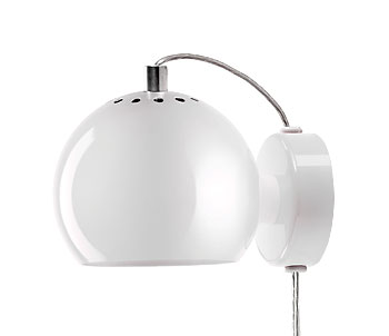 Lampa Ball Vägg Gul