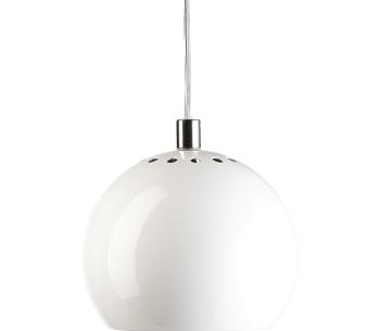 Lampa Ball Pendel Röd