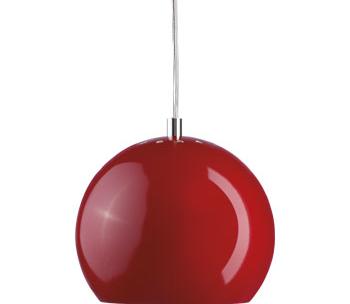 Lampa Ball Pendel Vit