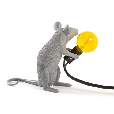 Mouse Lamp Grey Seletti