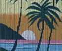 Draperi  Solnedgång Hawaii Bambu