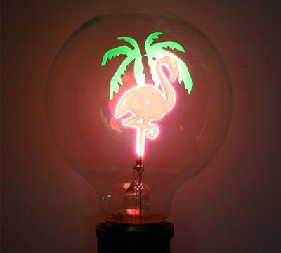 Flamingo glödlampa
