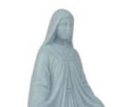Heliga Maria diffuser Blå