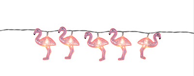 Ljuslinga Rosa Flamingo