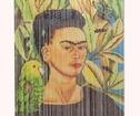 Draperi Frida Kahlo Med fågel, Bambu
