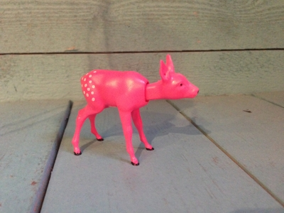 Bambi rosa nodding head Retro 5cm