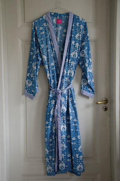 Kimono unisex Blue flower