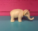 Elefant vit nodding head Retro 5cm