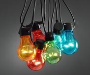 Ljusslinga 10 lampor, LED. Multifärgad eller Klar