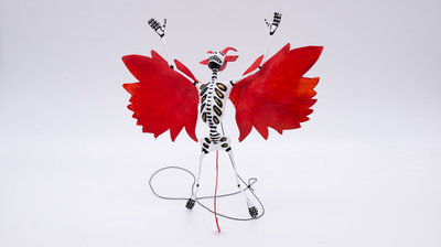 Skelettfigur Flying Devil Calavera