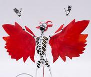 Skelettfigur Flying Devil Calavera
