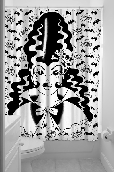 Dusch draperi Frankengirl