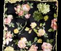 Sittkudde - Svart med rosa blommor