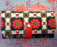 Plånbok L, FlowerSq-recycle