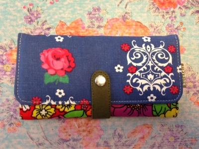 Plånbok L, FlowerJea-recycle