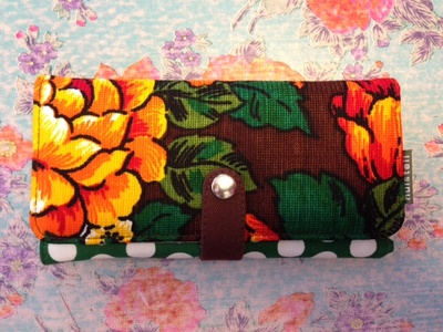 Plånbok L, FlowerDot-recycle