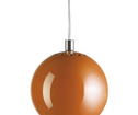 Lampa Ball Pendel Orange Matt