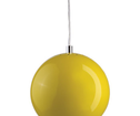 Lampa Ball Pendel Gul